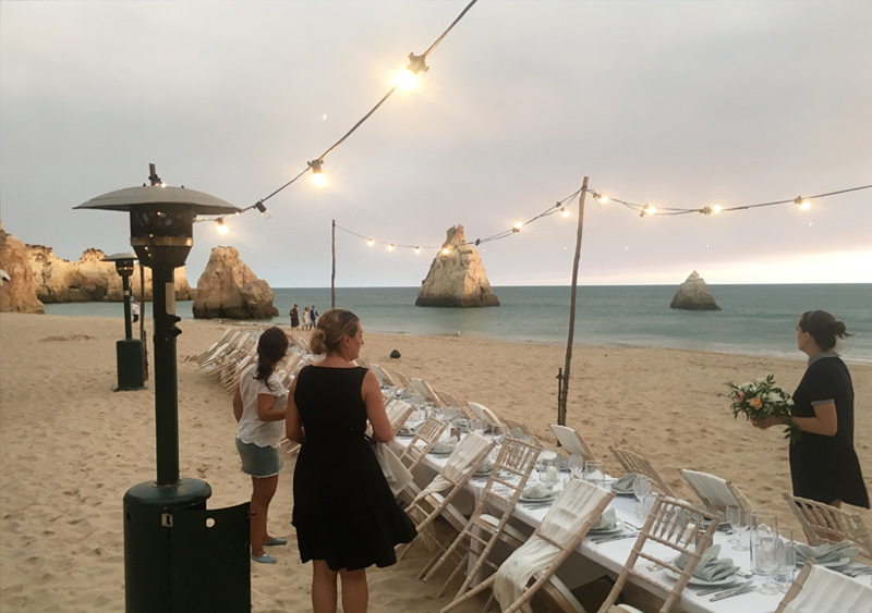 Equipment Hire for Weddings in the Algarve, Portugal