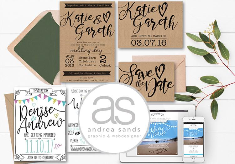 Wedding Invites, web designer & graphic designer in Portugal & UK