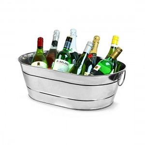 Large Silver Cooler Bucket