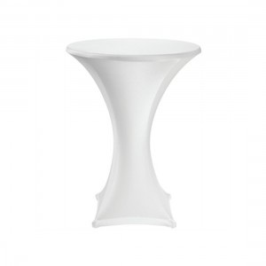 Poseur table with white cover